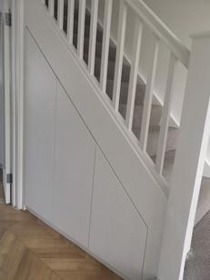 Storage unit under stairs