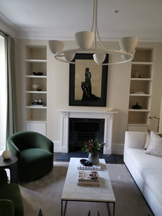 Sprayed Alcove units and floating shelves