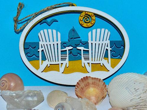 Beach Views Ornament