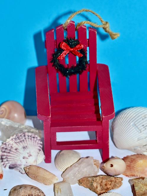 Christmas Beach Chair Ornament