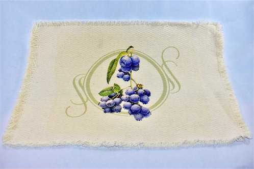 Blueberry Linen Placemat
