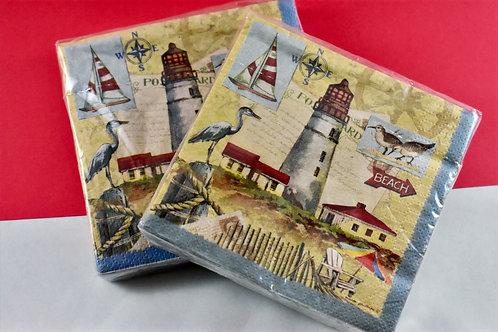 Lighthouse Beverage Napkins