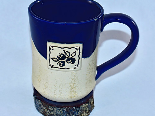 Two-Toned Blueberry Coffee Mug