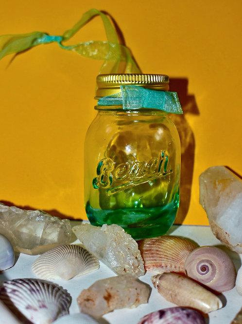 Beach Canning Jar Ornament