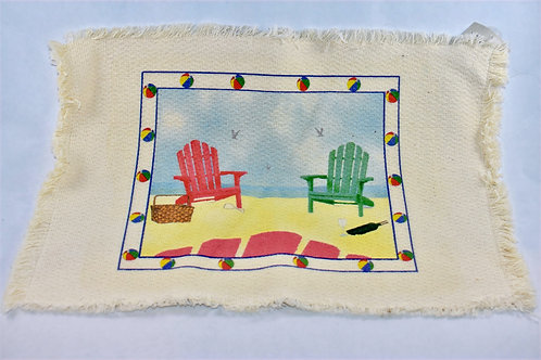 Beach Chair Linen Placemat