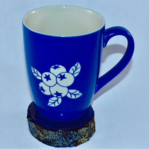 Blueberry Engraved Coffee Mug