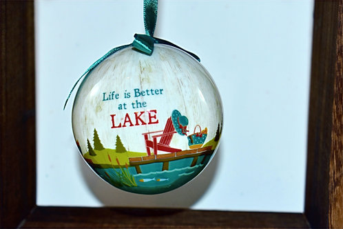 Life is Better at the Lake Bulb Ornament