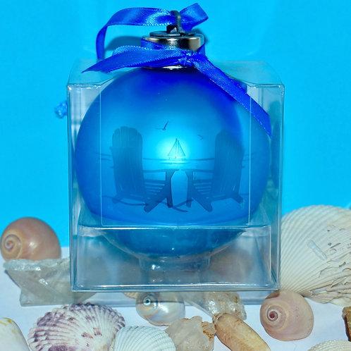 Light-up Beach View Bulb Ornament