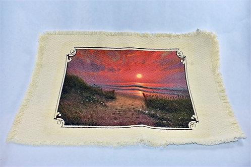 Beach Sunset Linen Placemat