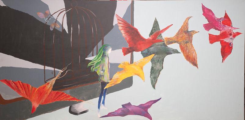 Broken Screen with birds International A
