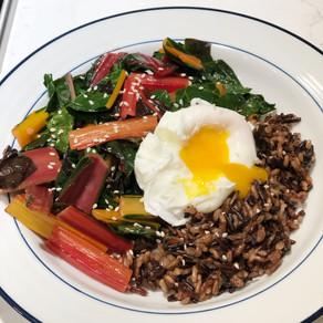 Mondays with Martha: Gingery Rainbow-Chard and Black-Rice Bowl