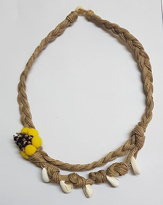 AVA SOFT JUTE BRAIDED JEWELRY WITH SHELL