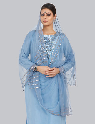 GIA KURTA PLAZZO  AND DUPATTA SET OF 3 (MADE TO ORDER)