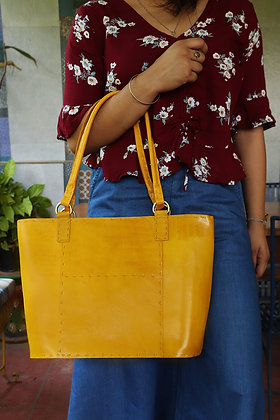 LEATHER WORK TOTE BAG