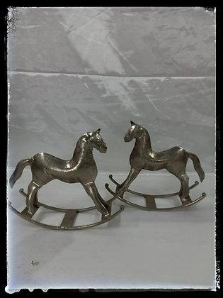 KAIA PAIR OF METALLIC HORSE