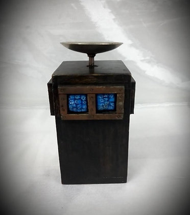 ANTIQUE WOODEN CANDLE STAND