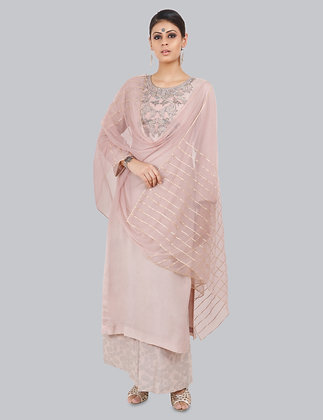AMARI KURTA PLAZZO SET WITH DUPATTA SET (MADE TO ORDER) OF 3 (MADE TO ORDER)