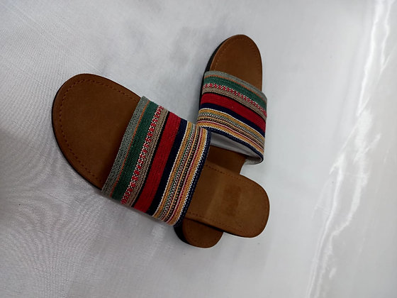 SLIP ON WITH FABRIC STRAP