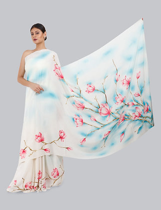 AISHI HAND PAINTED SAREE (MADE TO ORDER)