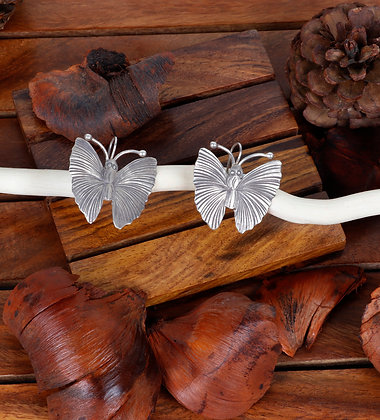 BUTTERFLY SILVER EAR RINGS