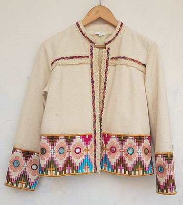 EKIYA COTTON DOBBY EMBROIDERED JACKET (MADE TO ORDER)