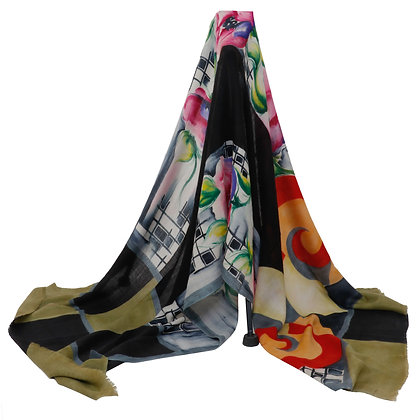 MULTI COLORED HAND PAINTED SCARF (MADE TO ORDER)