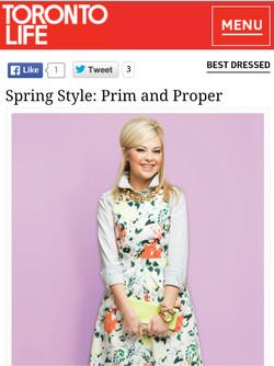 Toronto Life Magazine May 2014