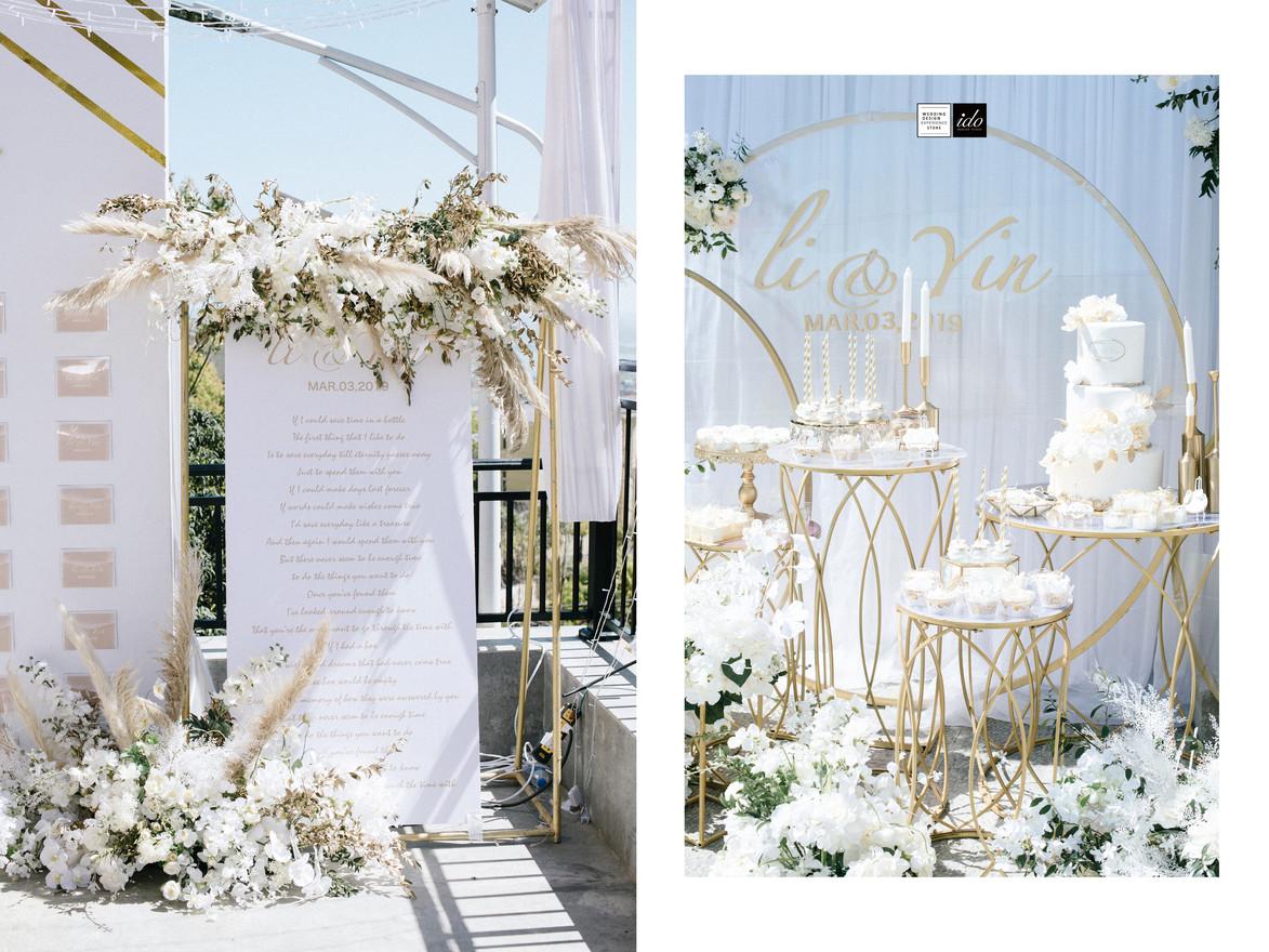 ido events white & gold Summer Wedding