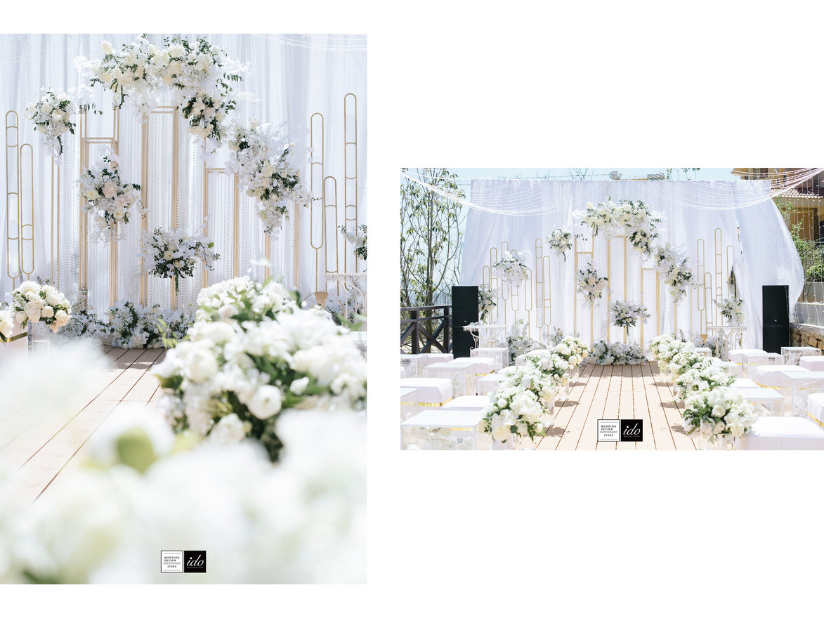 ido events white&gold Summer Wedding