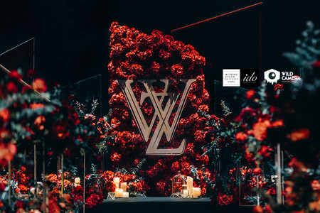 Classic and Classy Red Gold Wedding IDO EVENTS Los Angeles