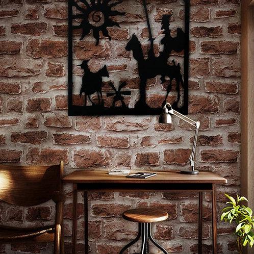 Decoración cuadro Don Quijote 85 x 85 cm