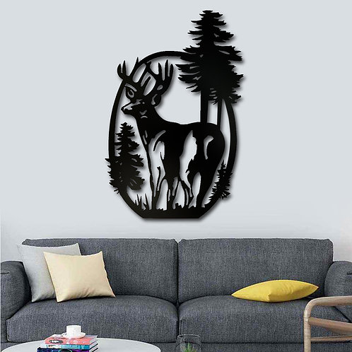 Decoracion venado pino
