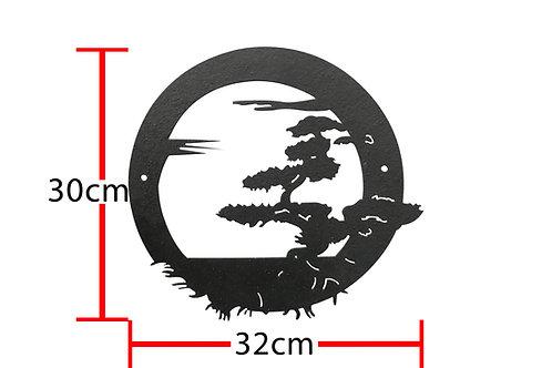Árbol bonsai circular
