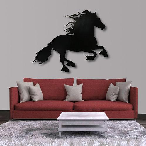 Decoración caballo frisian