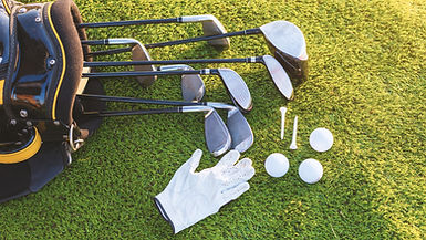 Golf Clubs, Golf Tees, Golf Balls