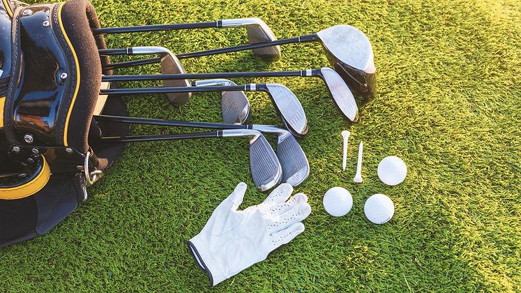 Utrustning för att spela golf