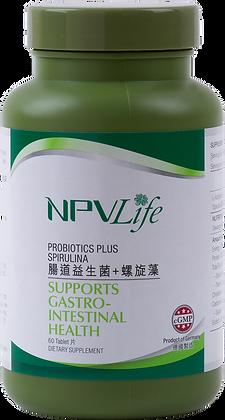 NPVLife 腸道益生菌+螺旋藻 (60片)