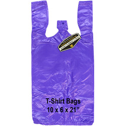 Mighty Gadget Purple T Shirt Bags