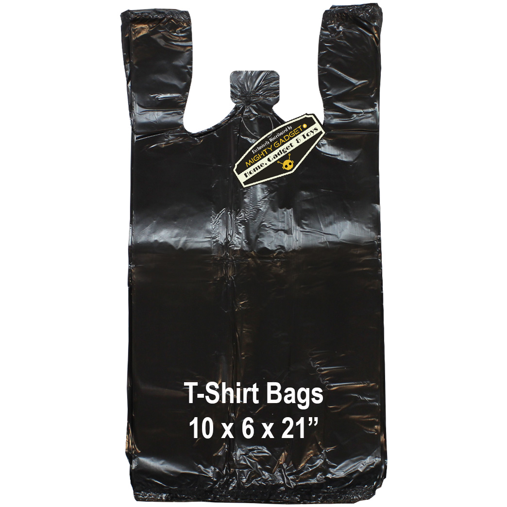 Mighty Gadget Black T Shirt Bags