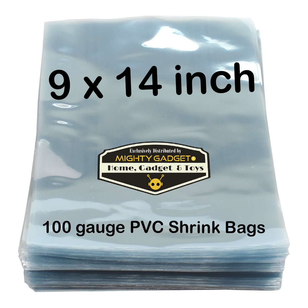 Mighty Gadget 500 9 x 14 inch Shrink Wrap Bags Clear