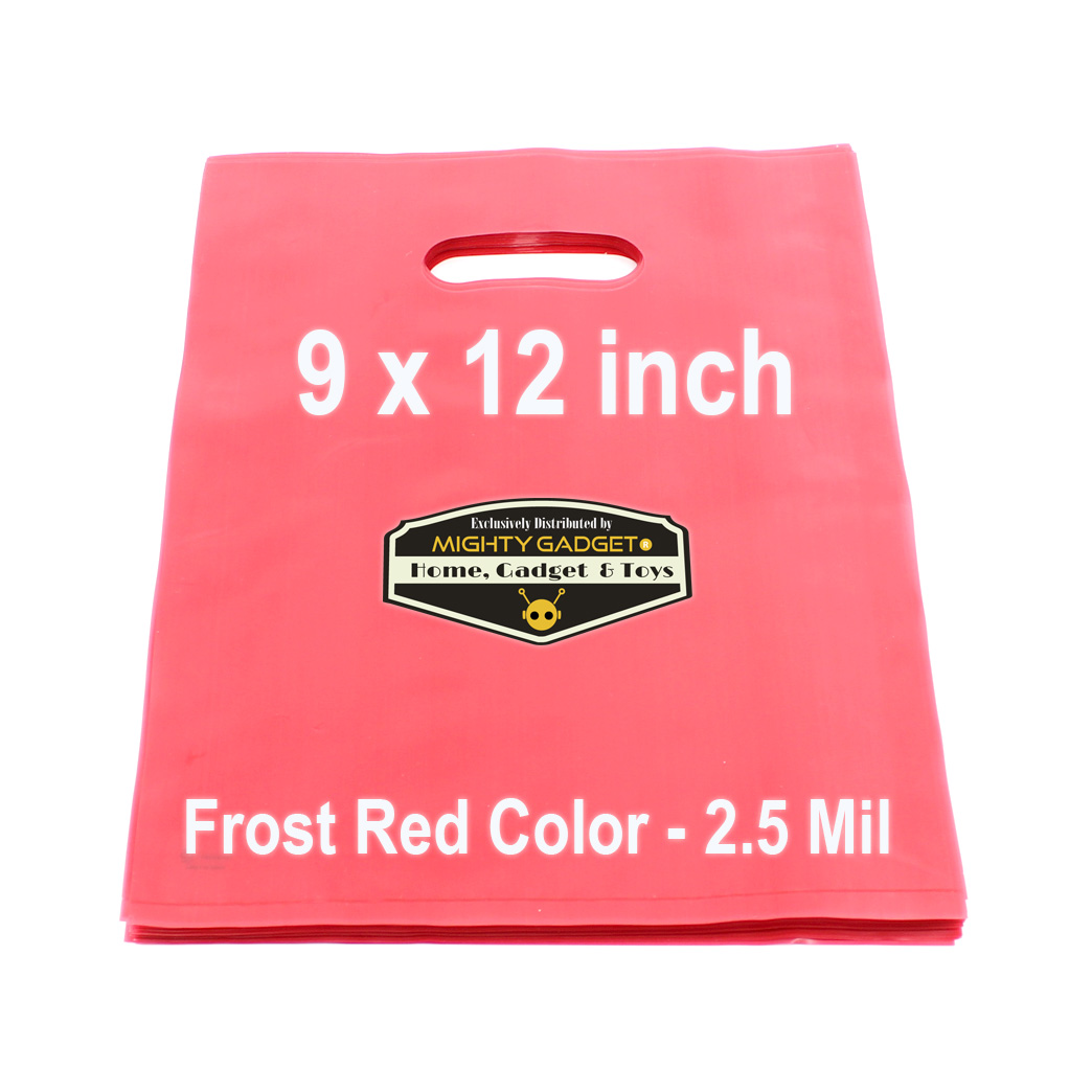 Mighty Gadget Frost Red Translucent Merchandise Bags 3