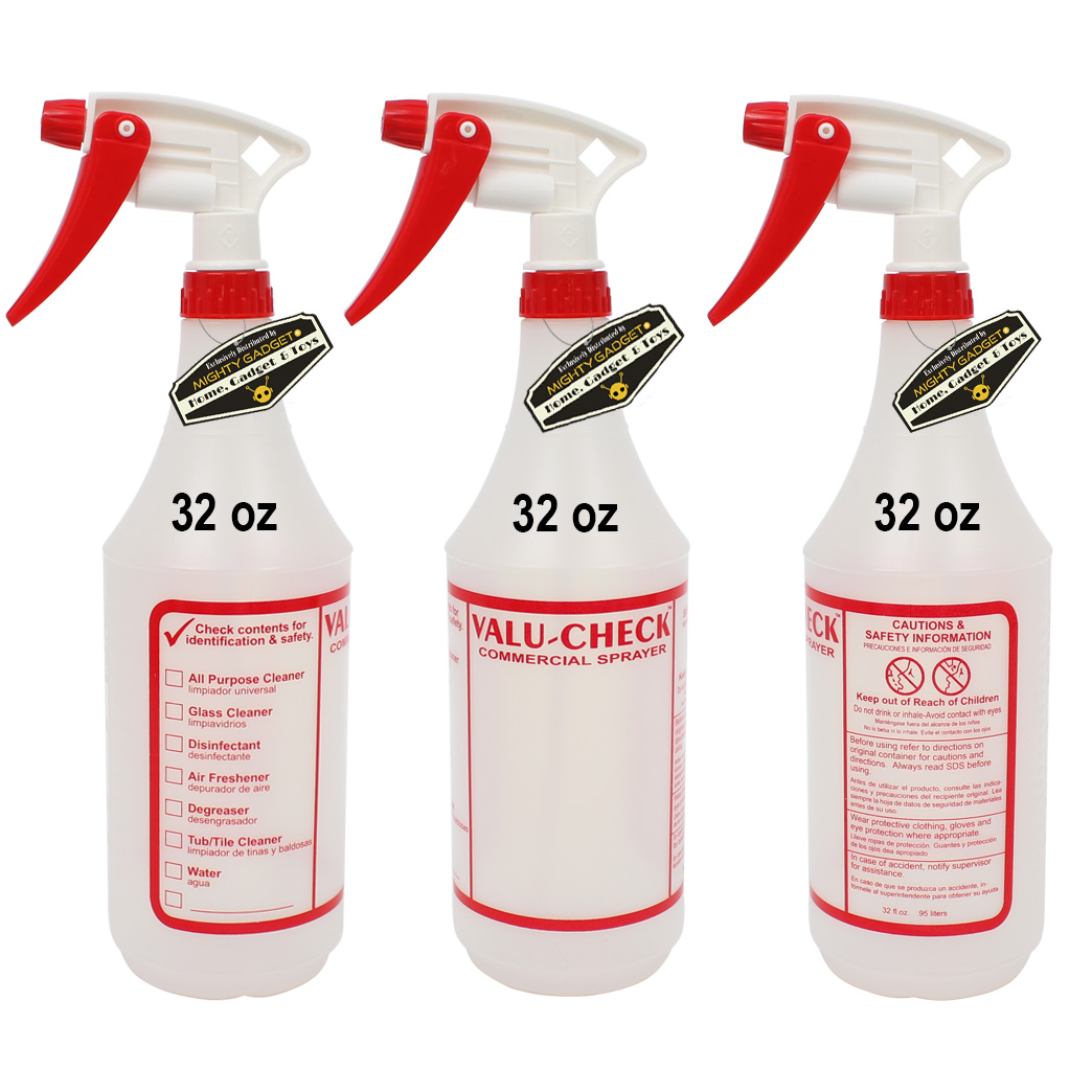 Mighty Gadget 3 x 32 oz Value Quality Empty Sprayer Bottles 1
