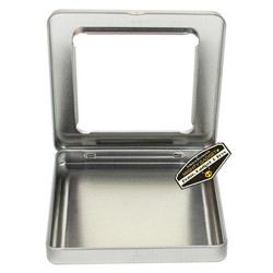 Mighty Gadget Two of 3.75 x 3.75 Square Hinge Tins with Window 4