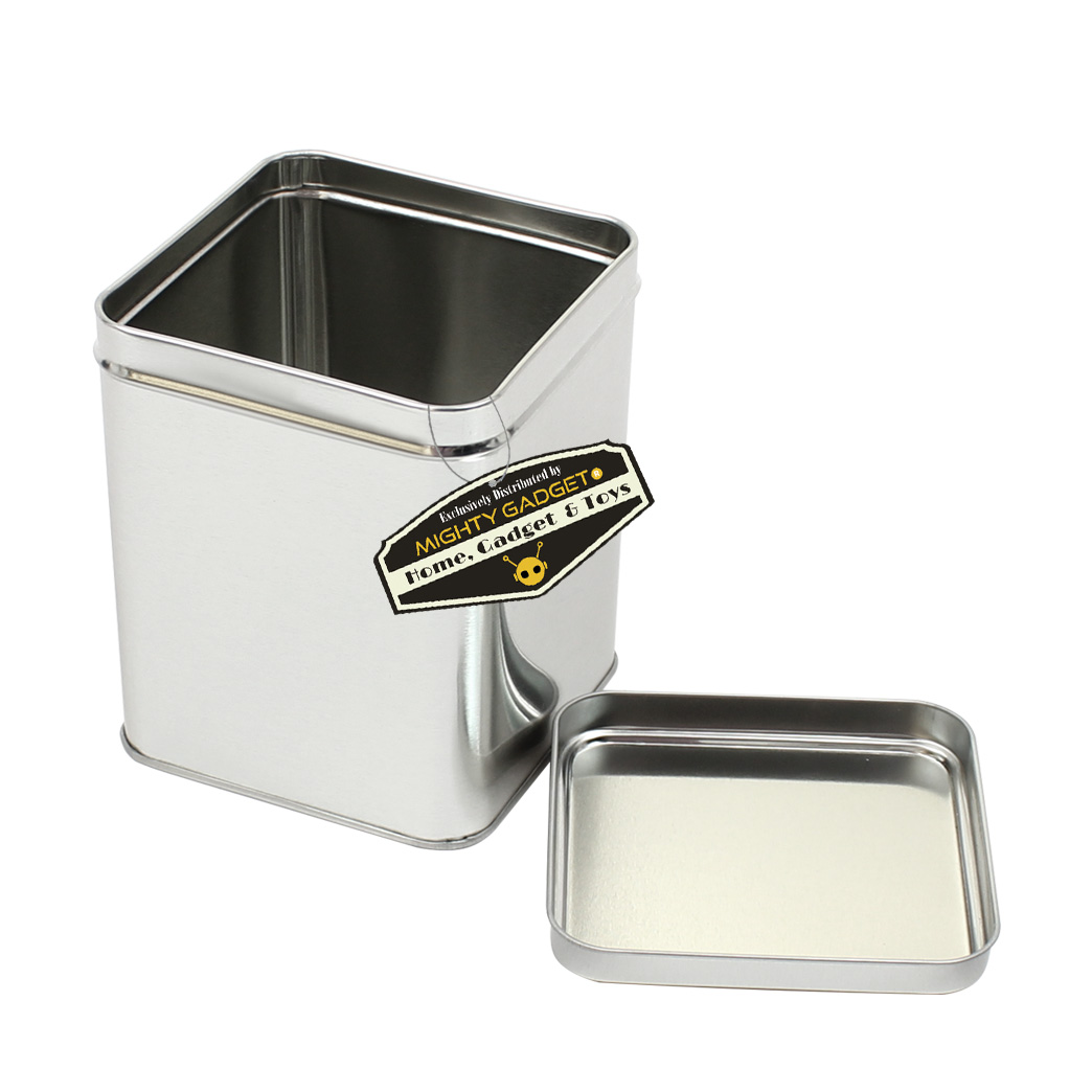 Mighty Gadget 1 x 7 oz Square Tin Cans 2