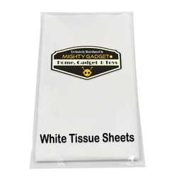 Mighty Gadget White Tissue Paper Sheet Clear Background 3