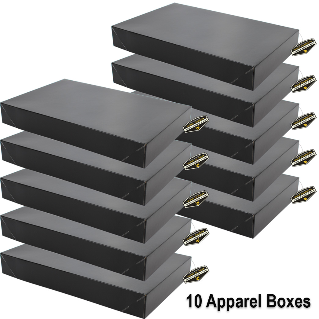 Mighty Gadget 10 x Black Apparel Boxes 1