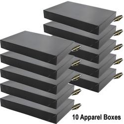 Mighty Gadget 10 x Black Apparel Boxes 1