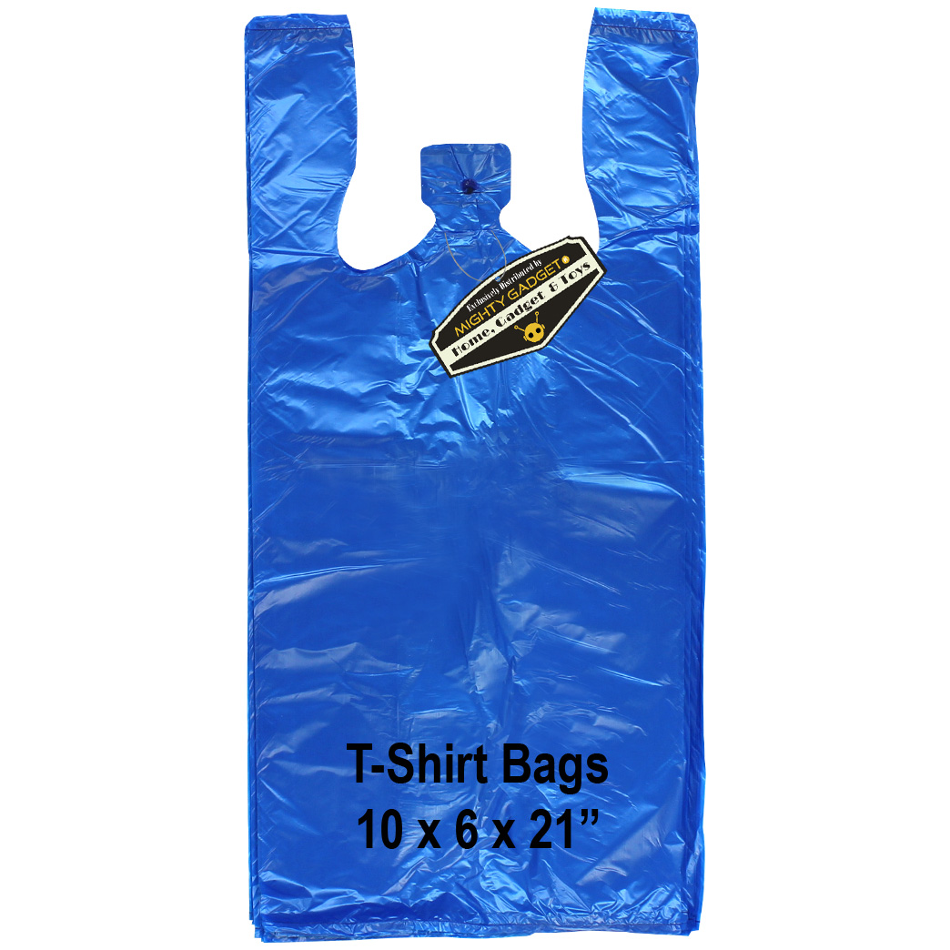Mighty Gadget Blue T Shirt Bags