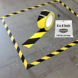 Mighty Gadget Yellow Black Safety Tape 4