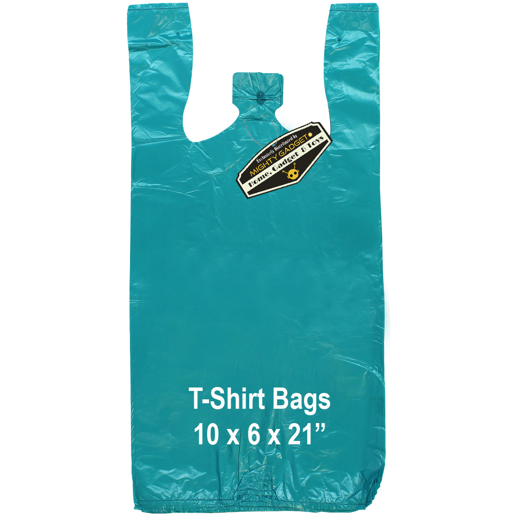 Mighty Gadget Teal T Shirt Bags